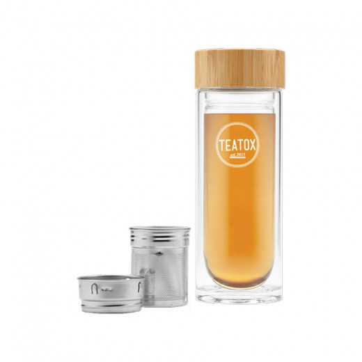 Bamboo bottle thermo-go